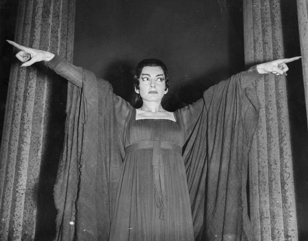Greco-American operatic soprano star Maria Callas (1923 - 1977), rehearsing for her title role in 'Medea' at Covent Garden, London. Original Publication: People Disc - HC0514 (Photo by John Franks/Getty Images)